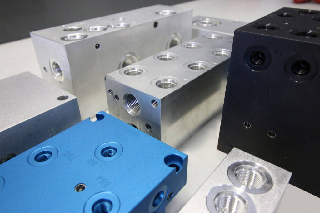 Anodized Hydraulic Manifolds